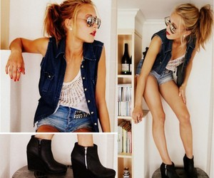 girl, style, and shoes image