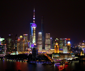 beautiful, shanghai, and skyline image