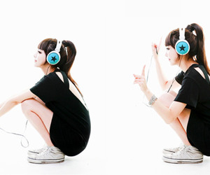 korean, girl, and music image