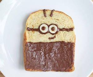 minions, nutella, and food image