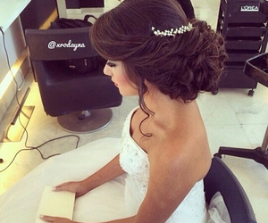 hair, wedding, and bride image