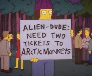 arctic monkeys, cool, and simpsons image