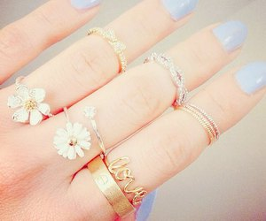 flowers, rings, and love image