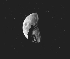 moon and black image