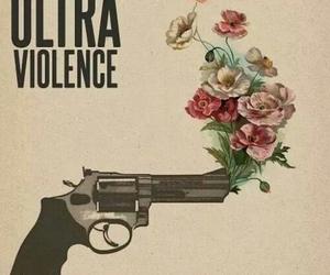 lana del rey, ultraviolence, and gun image