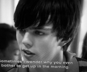 quote, skins, and black and white image