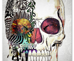 art, skull, and cool image