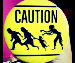 button, caution, and funny image