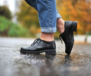 autumn, dr martens, and fashion image