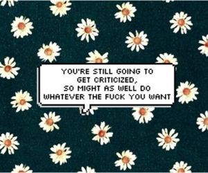 flowers, quote, and wallpaper image