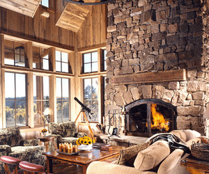 inspiration, living room, and cabin image