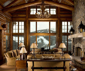cabin, living room ideas, and inspiring interiors image