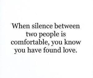love, silence, and quote image