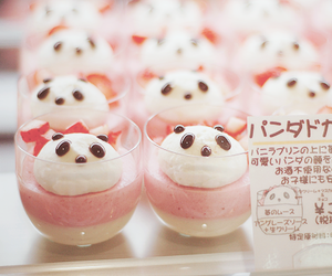 panda, kawaii, and food image