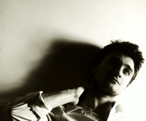 black and white and daniel radcliffe image