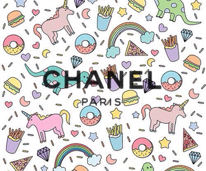 chanel, unicorn, and donuts image