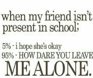 school, friends, and alone image