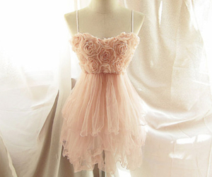 dress, pink, and rose image