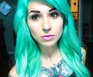 hair, Piercings, and tattoo image