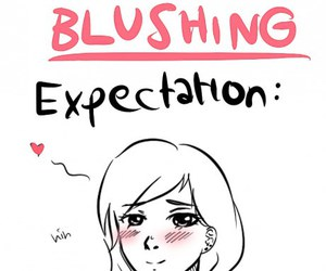 funny, blushing, and reality image