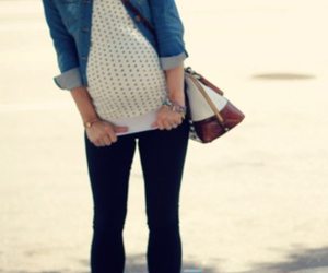 baby, bag, and jeans image