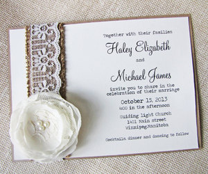 burlap, chic, and lace image