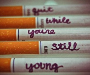 cigarette, young, and quit image