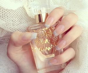 nails, perfume, and girly image