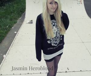 jasmin heroblood, blonde, and blue eyes image