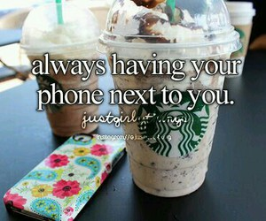 phone, starbucks, and just girly things image
