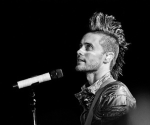 30 seconds to mars, jared, and black&white image