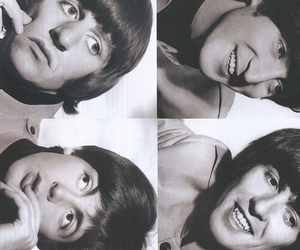 beatles, black and white, and the beatles image