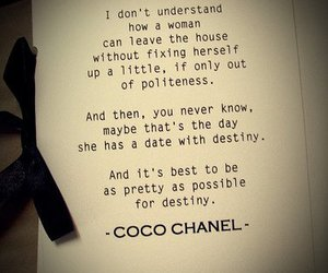coco chanel, quotes, and chanel image