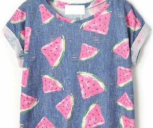 watermelon, fashion, and t-shirt image