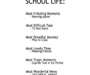 absent, school, and love image