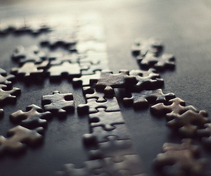 black, puzzle, and life image