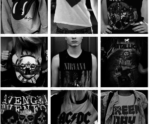 nirvana, green day, and ACDC image