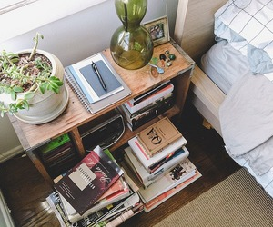 book, room, and plants image