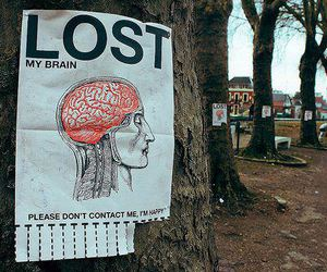 brain, lost, and happy image