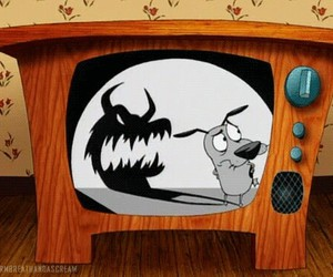 cartoon, courage, and courage the cowardly dog image