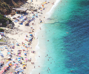 beach, paradise, and girl image