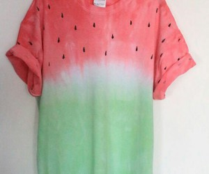 watermelon, hipster, and t-shirt image