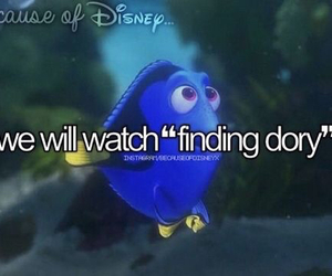 finding dory, because of disney, and disney image