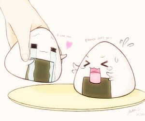 kawaii, onigiri, and food image