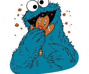 cartoon, funny, and monster image