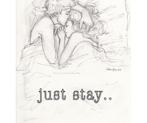 bed, couple, and kiss image