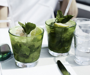 drink, mojito, and food image