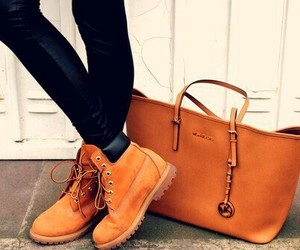 fashion, timberland, and bag image