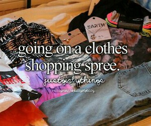 shopping, clothes, and spree image