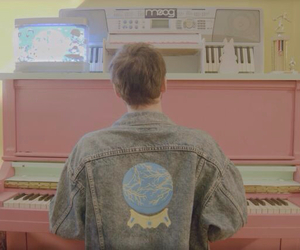 boy, piano, and pale image